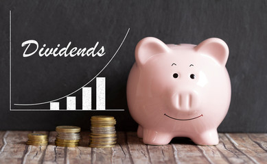 piggy bank dividend growth investment
