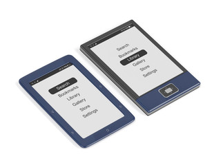E-book readers with different designs