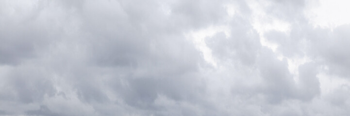 Overcast gray sky at daytime, natural sky background Fotobehang