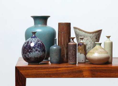 A collection of midcentury Scandinavian ceramics