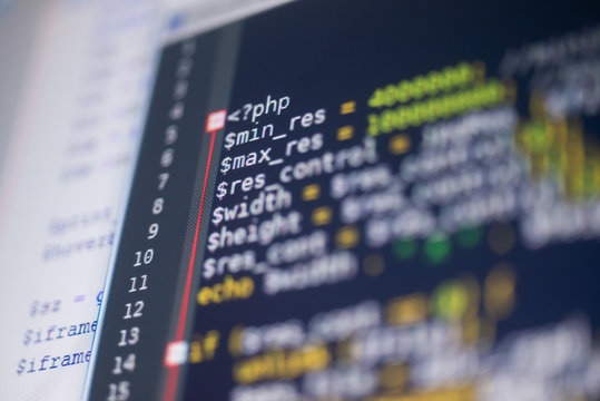 PHP code on a monitor