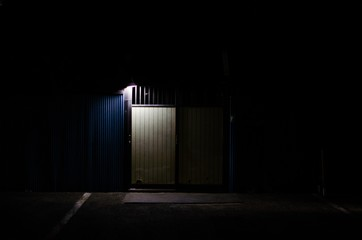 Illuminated House On Street At Night - fototapety na wymiar