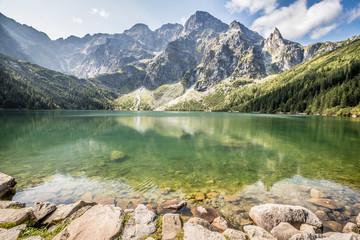 Fototapeta Scenic View Of Lake And Mountains Against Sky obraz