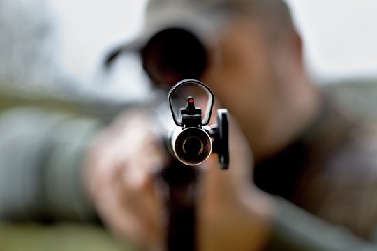 a look straight into the barrel of the rifle seems to be the last one in this world
