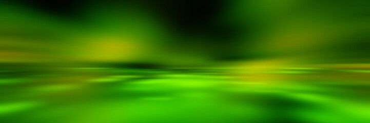 Wall Mural - green empty room studio gradient used for background and display your product