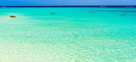 Fototapeten Reef grun 下地島・17エンドの美しいサンゴ礁の海