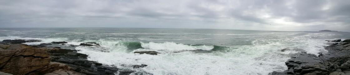 Zelfklevend Fotobehang Kust Scenic View Of Sea Against Sky