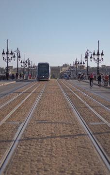 Tramway, Pont de Pierre, Bordeaux.