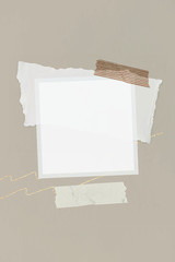Wall Mural - Blank collage photo frame template vector