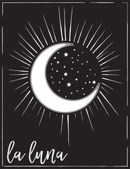 Ingelijste posters Retro sign tarot card