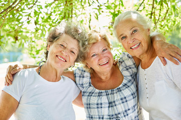Three senior women as best friends