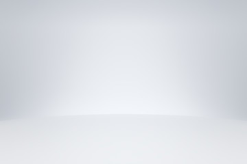 White studio room template on empty background with modern concept. Product display backdrops for...