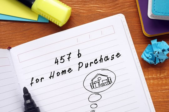 457(b) For Home Purchase inscription on the sheet.