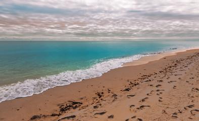 Empty beach landscape in Florida.