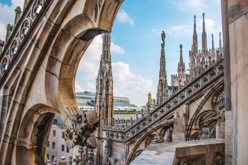 Keuken foto achterwand Milan Cathedral Against Sky