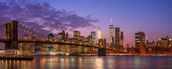 New York Manhattan at Magic hour
