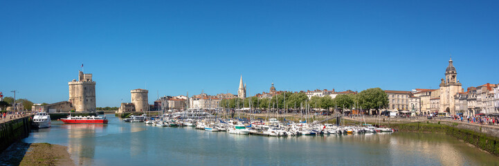 Wall Mural - Panorama of the Old harbor of La Rochelle, France