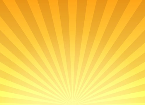 Retro yellow sunburst background