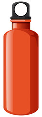 Water bottle in orange color on white background