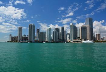 Fototapeta Miami Downtown city skyscrapers waterfront