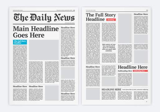 Graphical Layout Newspaper Template