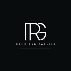 Fototapeta Alphabet letters monogram icon logo GR or RG obraz