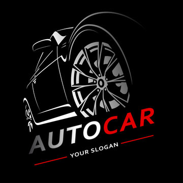 Car Logo Auto Abstract Lines Vector. Vector illustration