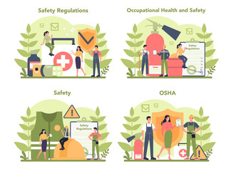 OSHA concept set. Occupational safety and health administration.