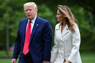 U.S. President Donald Trump arrives at White House after traveling to Baltimore on Memorial Day in Washington