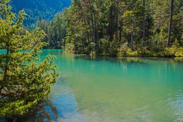 Wall Mural - Scenic Bavarian Lake. German Alps.