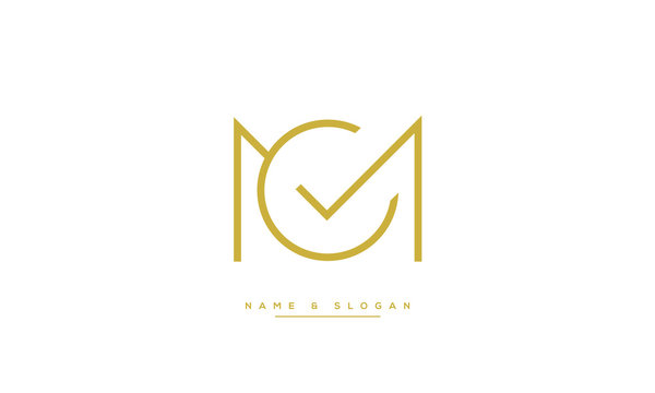 MC ,CM ,M ,C  letters abstract logo monogram