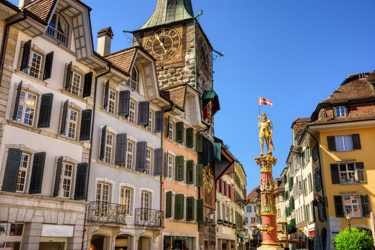 Solothurn city, Switzerland, historical Old town center
