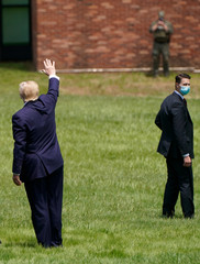 U.S. President Donald Trump visits Fort McHenry on Memorial Day in Baltimore