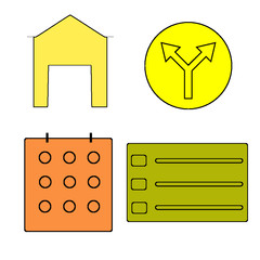 set of house icons set