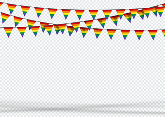 Bunting Hanging Banner LGBT Gay Pride Rainbow Flag Background