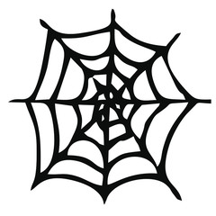 Vector image of spider web