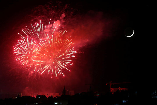 Jordanians mark the 74th Independence Day amid the spread of the coronavirus disease (COVID-19), in Amman