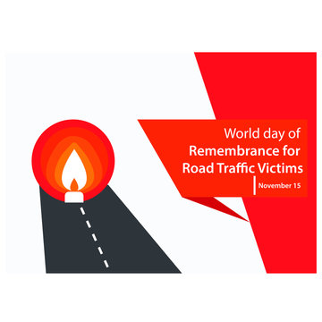 vector illustration for World Day of Remembrance for Road Traffic Victims. background