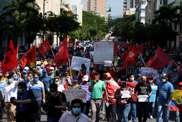 Protests during global outbreak of the coronavirus disease (COVID-19), in Guayaquil