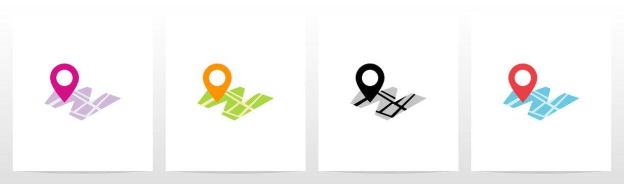 Location Pin On Letter Logo Design W
