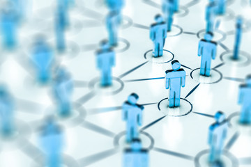 Wall Mural - Social Web Network Background Image