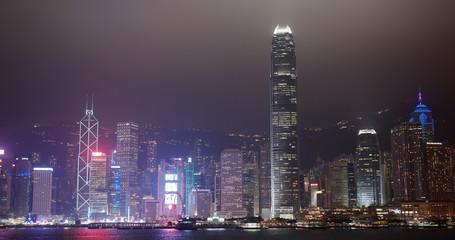 Wall Mural - Hong Kong city town night