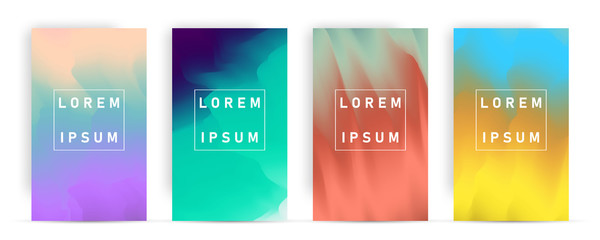Abstract Pastel Many colors gradient background A4 concept for your graphic colorful design,
