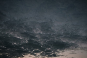 dark gray storm clouds after the rain Fotobehang
