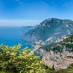 Aerial view of Positano town at Amalfi coast, Italy.