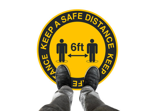 Concept social distancing - keep a safe distance
