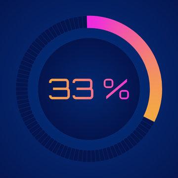 33 percent diagram