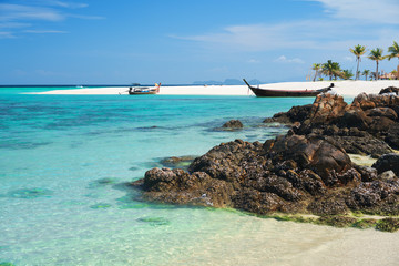 Amazing tropical beach with white sand beach and turquoise sea