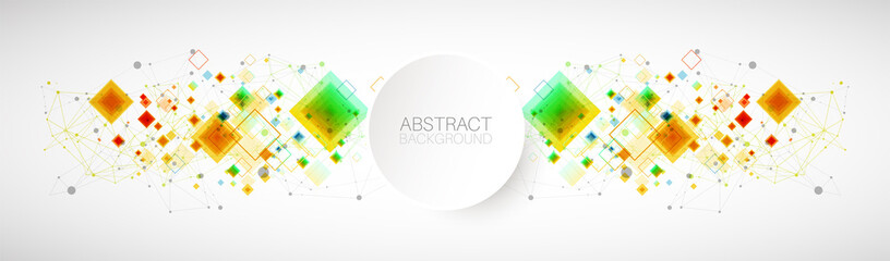 Abstract vector background with plexus effect.