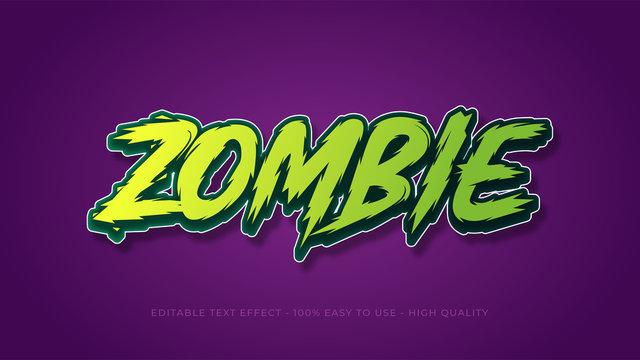 zombie editable text effect